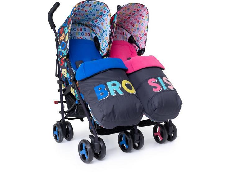 Cosatto Supa Dupa Twin Stroller - Sis & Bro 6