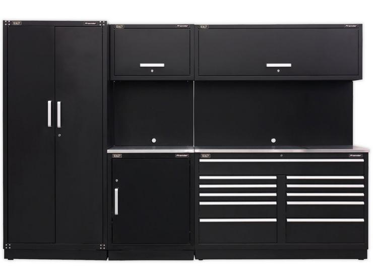 Sealey Premier Modular Storage with full height cabinet Stainless Steel Worktop