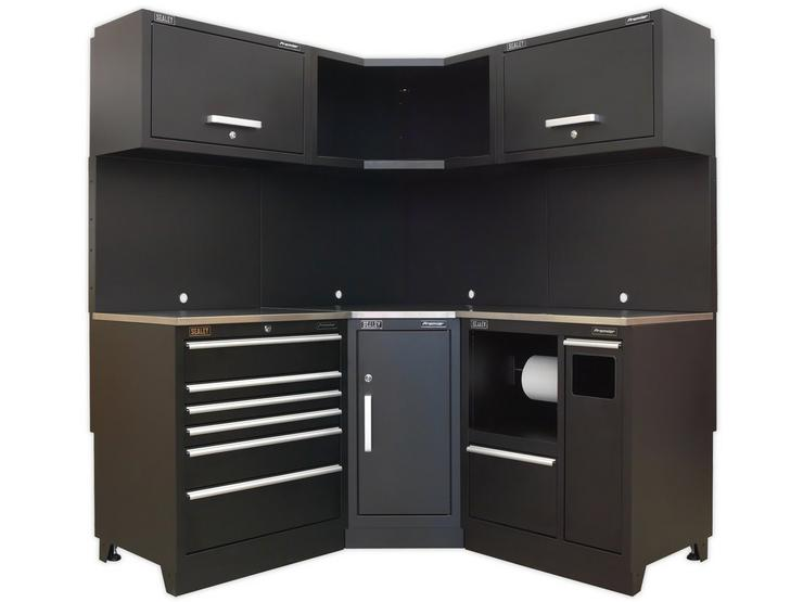 Sealey Premier Modular Storage Corner unit with Stainless Steel Worktop