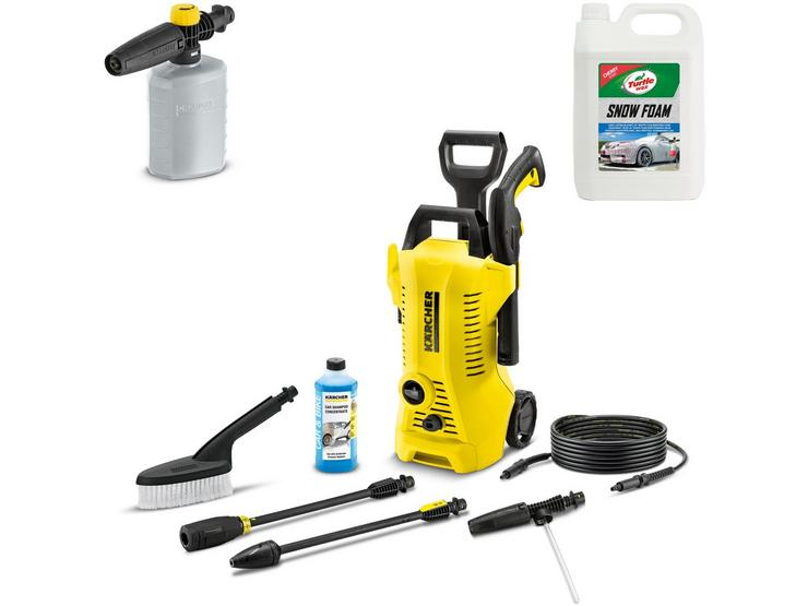 Karcher K2 Pressure Washer and Car Cleaning Essentials Bundle