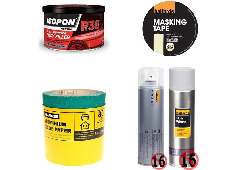 Body Repair Prep Abrasive Bundle With Aluminium Oxide Paper 5m Roll 80 grit