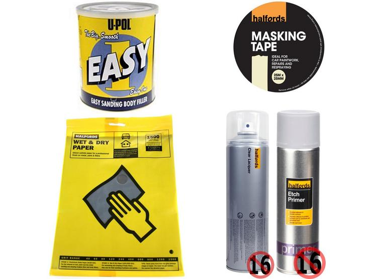 Body Repair Prep Abrasive Bundle With Wet and Dry Sanding Paper 1500 Grit