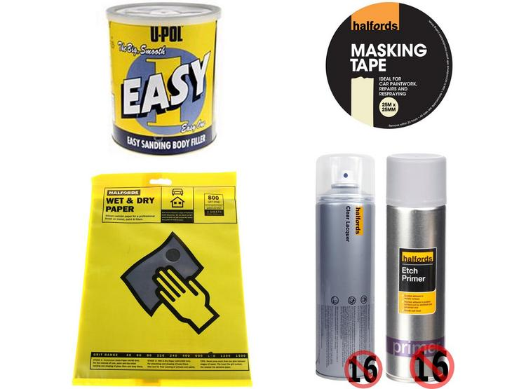 Body Repair Prep Abrasive Bundle With Wet and Dry Sanding Paper 800 Grit