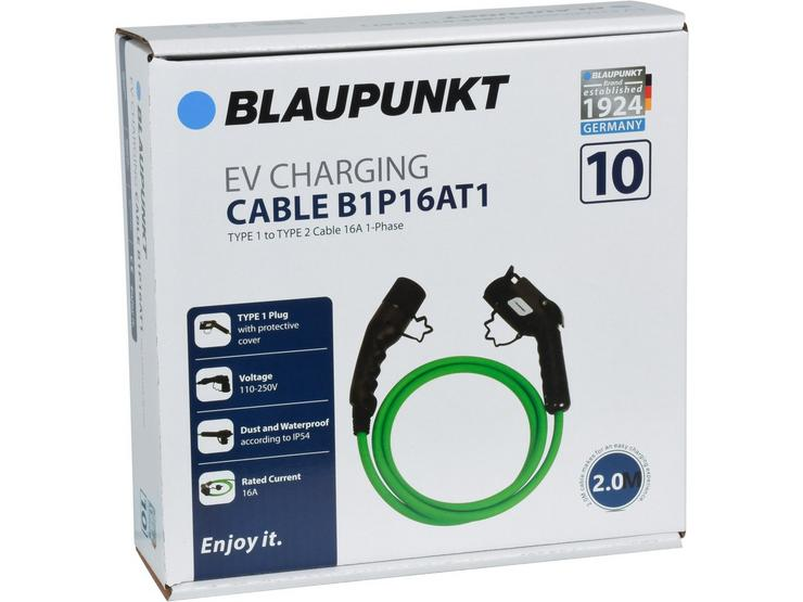 Blaupunkt Type 1 to Type 2 16A Phase 1  Electric Vehicle Charging Cable