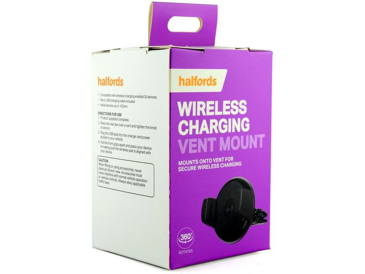 Halfords Wireless Charging Vent Mount