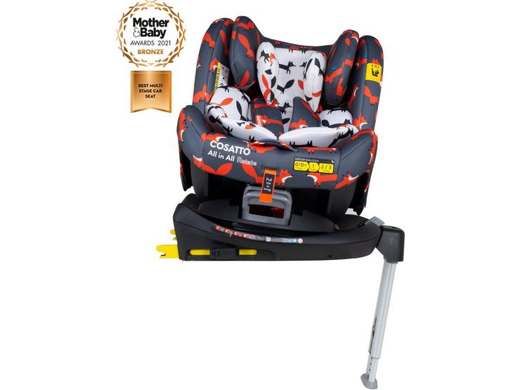 All in All Rotate Group 0+/1/2/3 Isofix Car Seat - Mister Fox