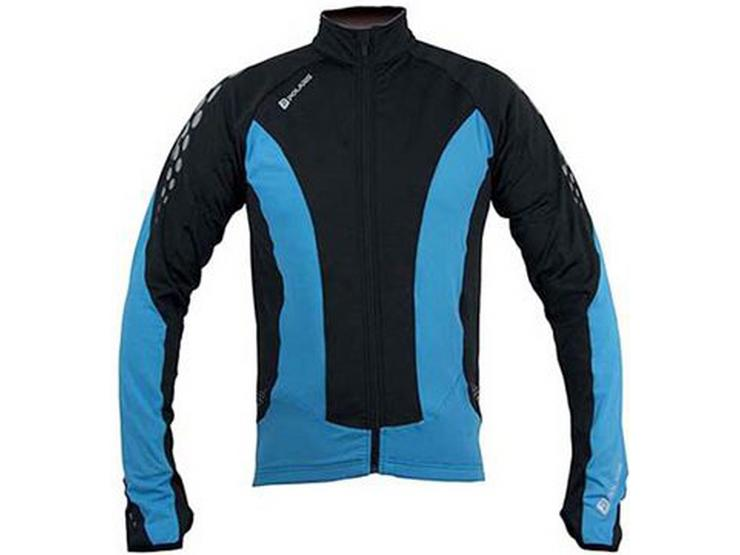 Polaris Kids Fang Cycling Jersey, S, Cyan/Black