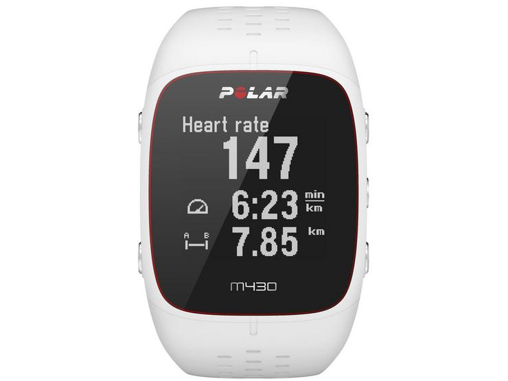 Polar M430 GPS Running Watch with Heart Rate Monitor - White