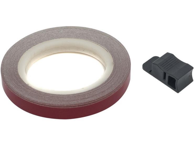 Halfords 7mm Reflective Wheel Stripe - Red