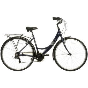 560687: Apollo Elyse Womens Hybrid Bike - Navy - 16, 18 Frames