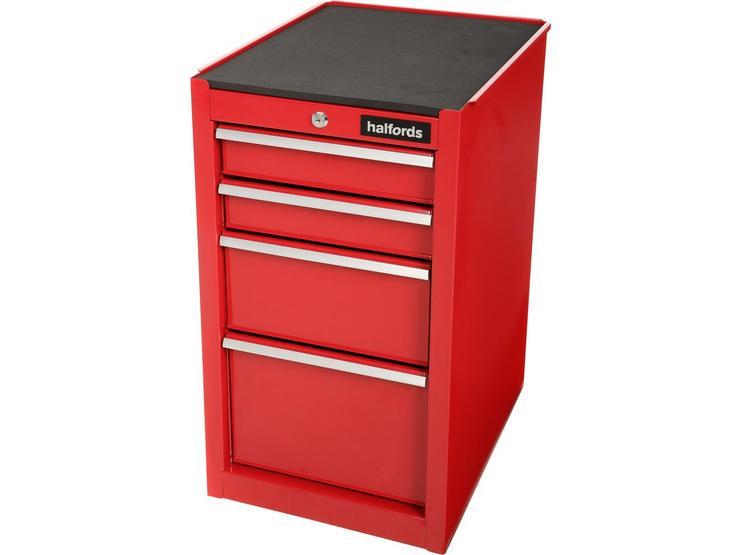 Halfords 4 Drawer Side Cabinet - Red