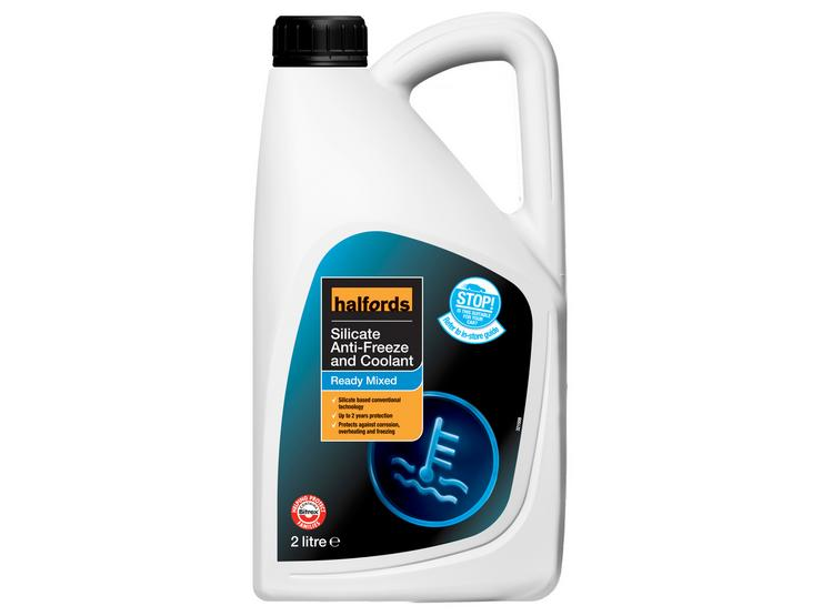 Halfords Silicate Ready Mixed Antifreeze 2L