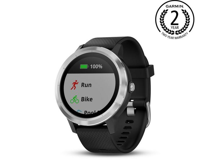 Garmin Vivoactive 3 GPS Smartwatch with Heart Rate Monitor - Black