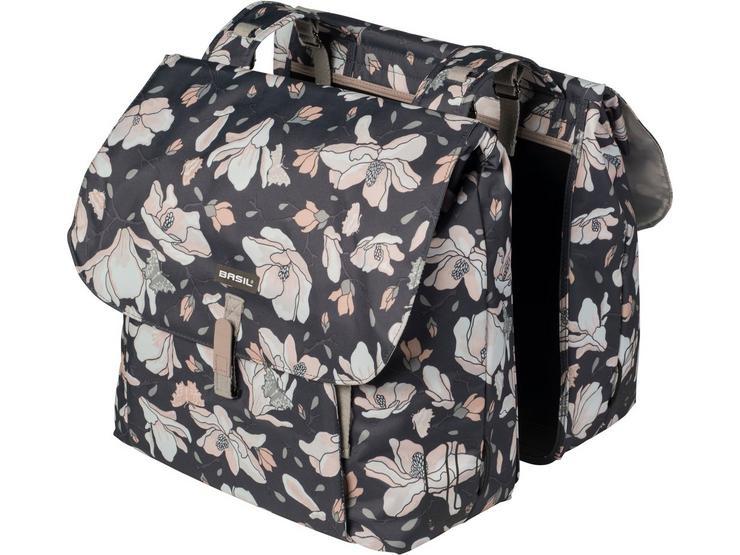 Basil Magnolia Double Pannier Bag