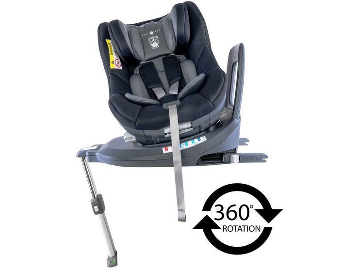 CozyNSafe Merlin 360° ISOFIX Group 0+/1 Child Car Seat - Black/Grey