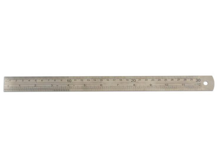 Laser Steel Ruler - 300mm
