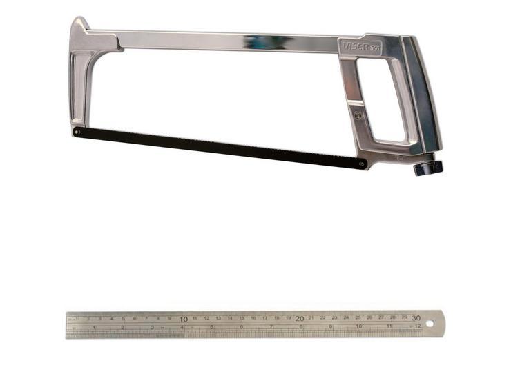 Laser Hacksaw & Steel Ruler Bundle