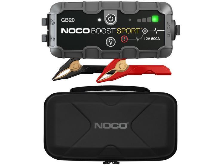 NOCO Boost GB20 500A Jump Starter & Protective Case Bundle