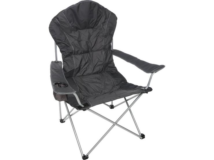 Halfords Comfort Folding Chair - Black