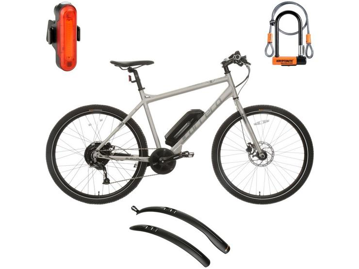 Carrera Subway Mens Electric Bike and Must Have AccessoriesBundle