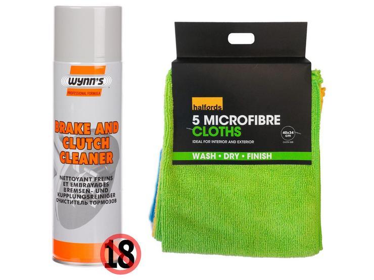 Wynns Brake and Clutch Cleaner Bundle