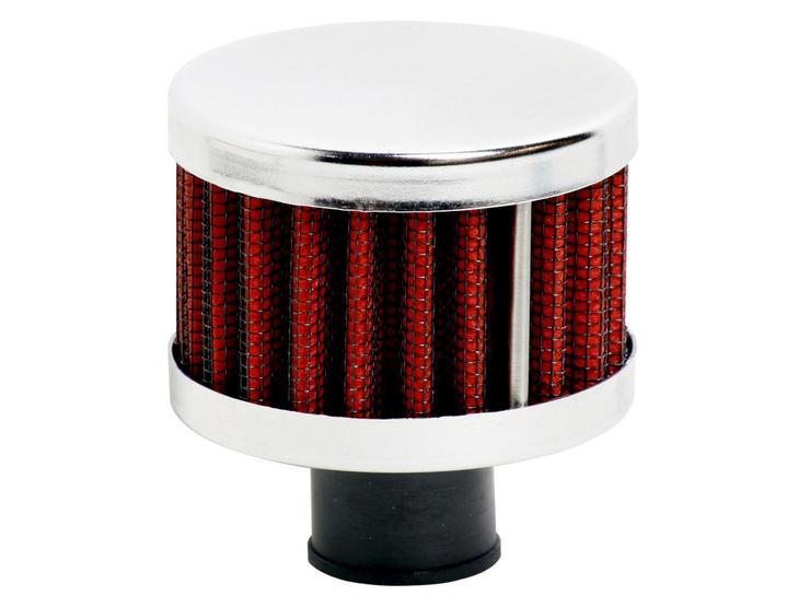 Ripspeed Universal Vent Filter Gauze/Chrome Finish - Red