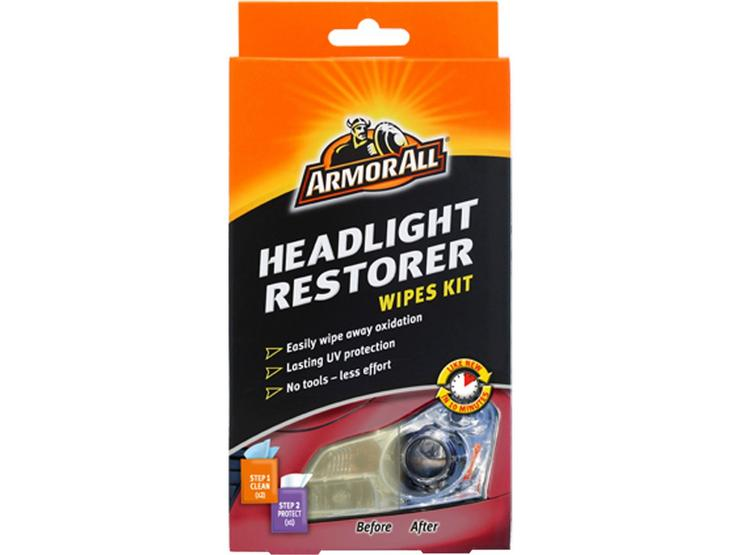 Armor All Headlight Restorer Wipes Kit