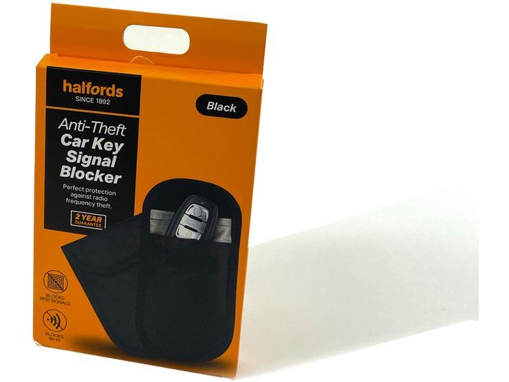 Halfords Anti-Theft Car Key Signal Blocker - Black