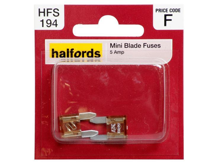 Halfords Mini blade Fuses 5 AMP (HFS194)