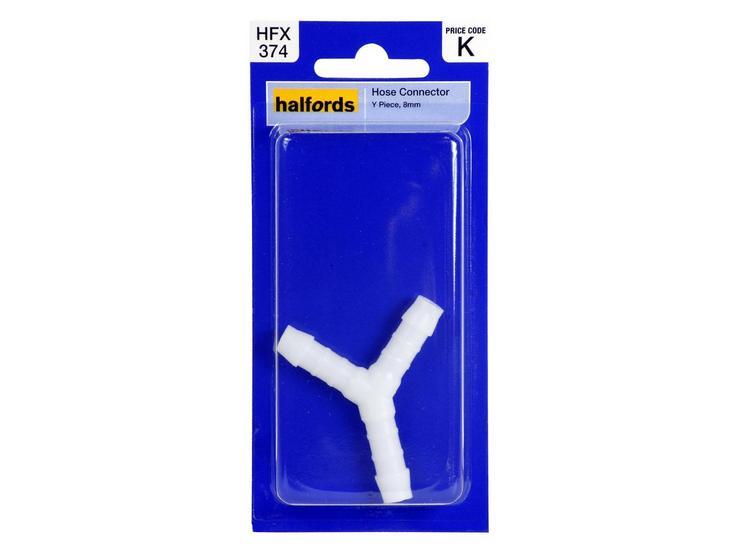 Halfords Hose Connector Y-Piece 8mm HFX374
