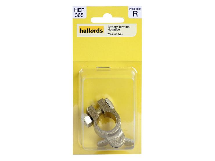 Halfords Battery Terminal Negative - Wing Nut (HEF365)
