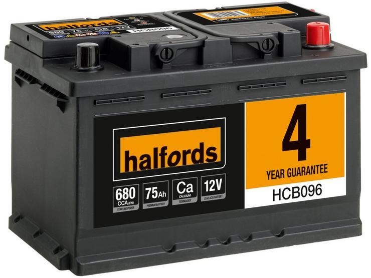 Halfords HCB096 Calcium 12V Car Battery 4 Year Guarantee