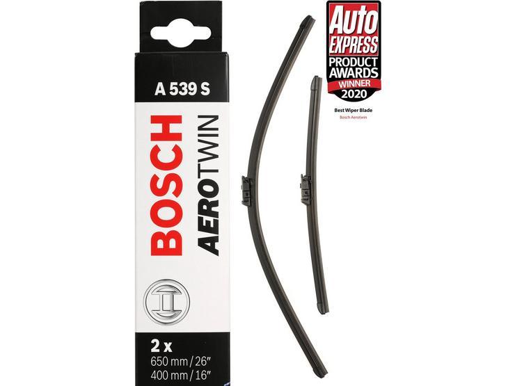 Bosch A539S Wiper Blades - Front Pair