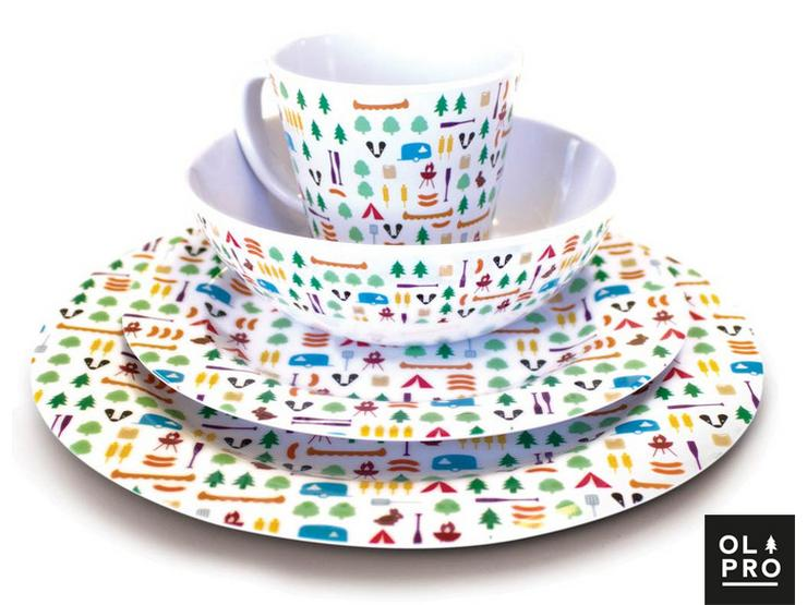 Olpro 16 Piece Berrow Hill Tableware Melamine Set